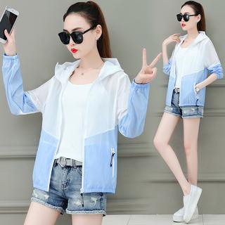 2020 новый летний солнцезащитный одежды женские короткие против расходов ультрафиолет воздухопроницаемый длинный рукав тонкая модель пальто солнцезащитный крем одежда солнцезащитный крем рубашка, цена 327 руб