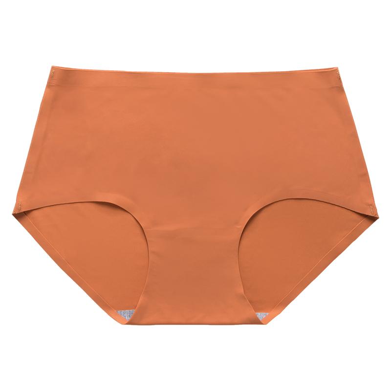 清野芙夏季一片式无痕冰丝款中腰少女士薄款透气大码三角内裤衩头