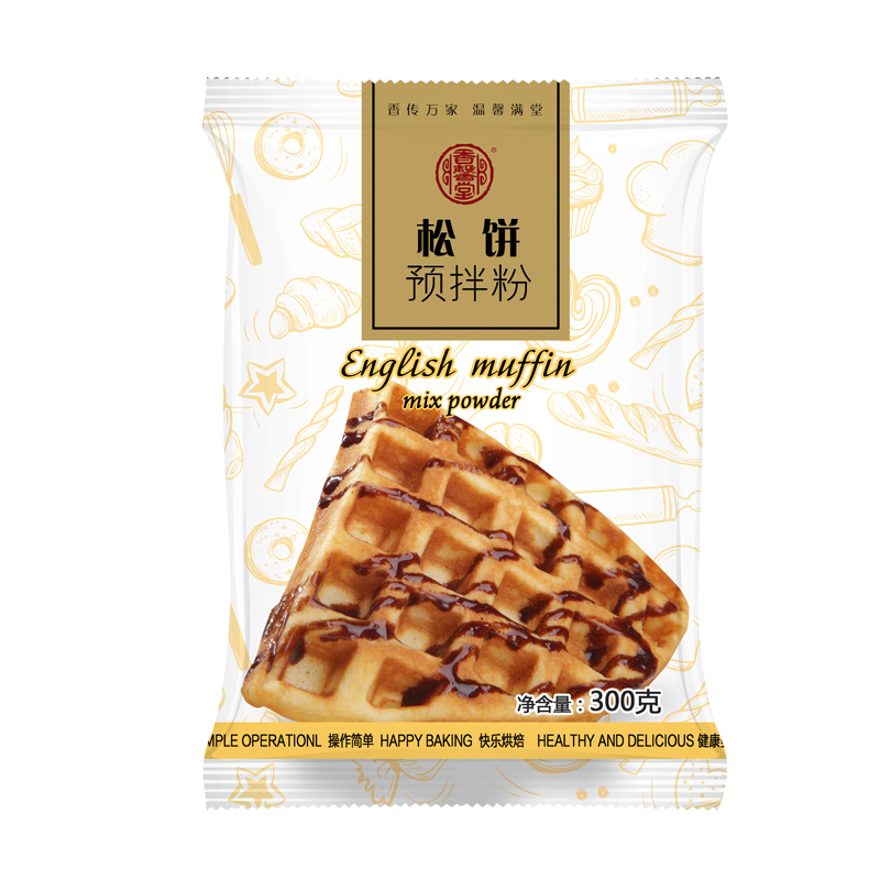 香馨堂 松饼粉华夫饼粉家用diy做煎饼原味松饼预拌粉300g烘焙原料,免费领取2.00元淘宝优惠卷