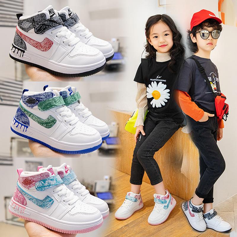 儿童篮球鞋v儿童鞋子布鞋男童女童春秋款2021年新款潮