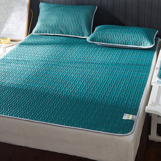 Three-piece summer latex mat, Thailand ice silk mat 1.8m bed sheet, washable folding air conditioning mat soft 2m m
