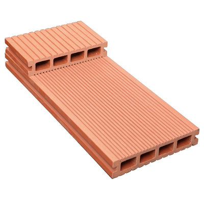 Plastic wood floor outdoor 140 * 24 square hole anti-corrosion WPC plastic wood PE series park stack road long strips