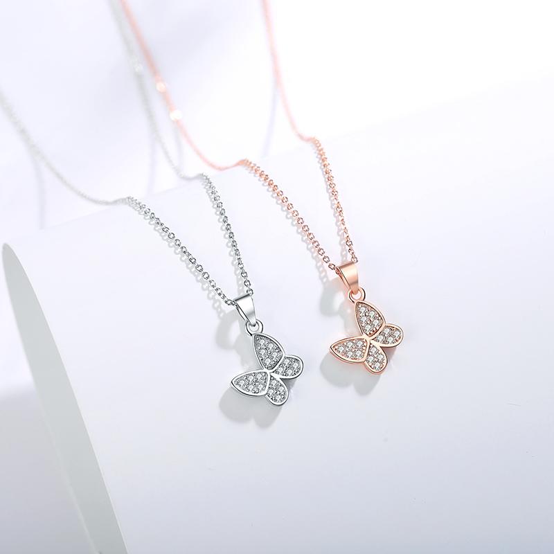 恒林925纯银项链女锁骨链吊坠轻奢小众品牌生日情人节礼物送女友