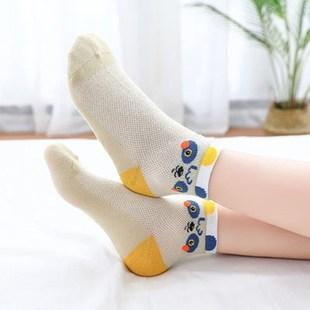 儿童袜子春夏薄款船袜男童网眼袜短袜儿童浅口袜宝宝袜子夏季薄款