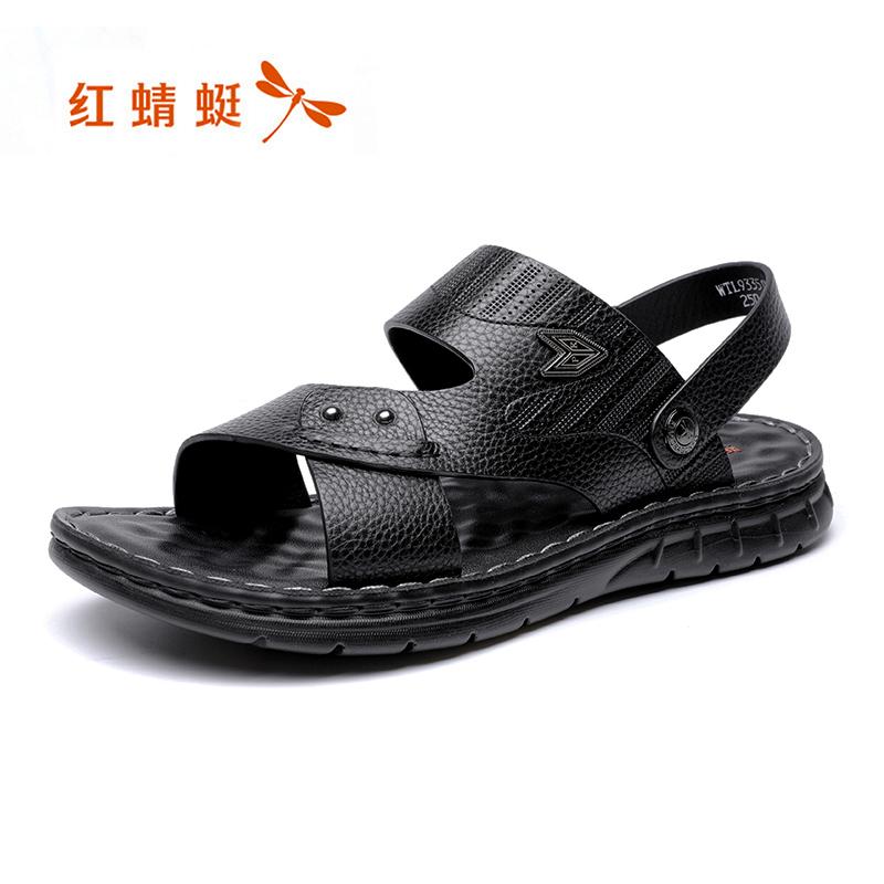 红蜻蜓男凉鞋2020夏季新款男士户外休闲两穿沙滩鞋软底舒适凉拖鞋