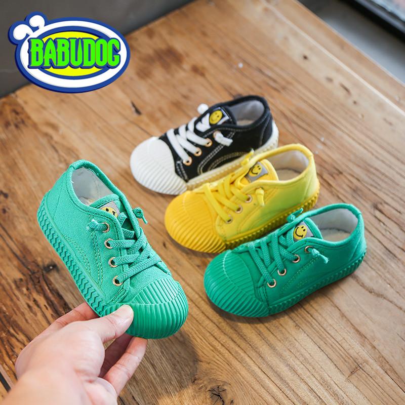 20新款儿童饼干鞋女童英伦风单鞋男童春款运动鞋透气BABUDOG正品