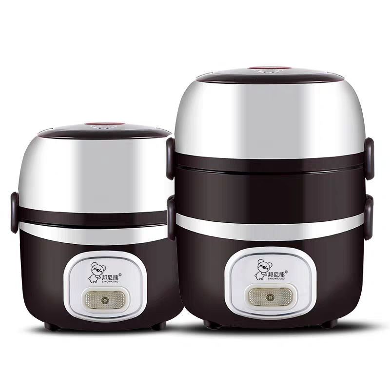 邦尼熊带饭神器多功能电加热饭盒上班族可插电超长保温自加热饭菜