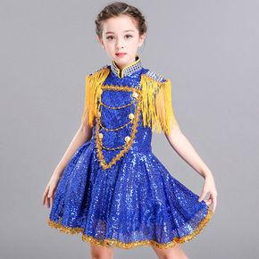 girls princess ballet chorus dresses dance girl's fluffy gauze dress kindergarten princess dress show dress chorus Sequin suit