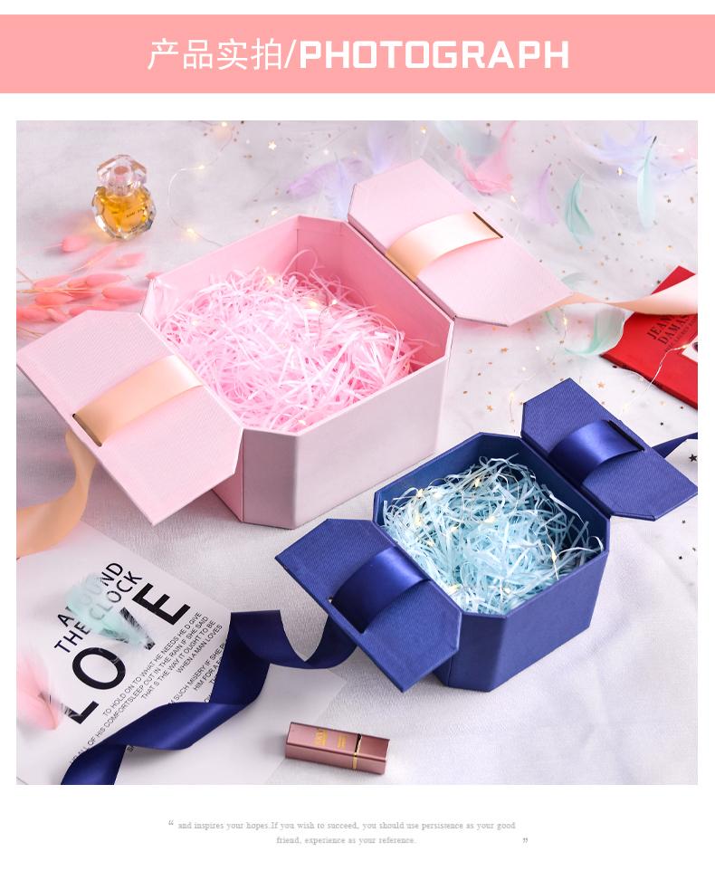 伴手礼品礼物盒包装空盒子风精美生日礼盒口红女生版大号高级详细照片