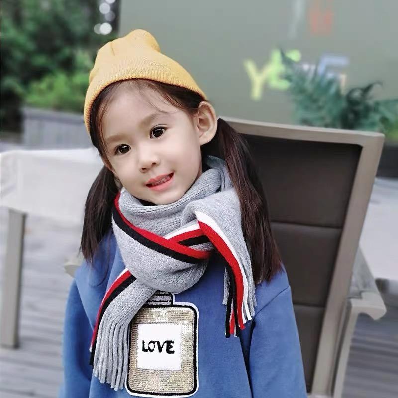 儿童围巾秋冬季新品男童女童披肩婴儿围脖套毛线保暖针织宝宝围巾