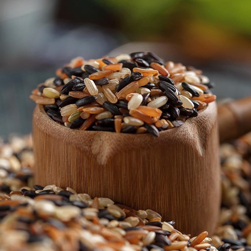 三色糙米新米 5斤 五谷杂粮红米黑米糙米糊粗粮健身胚芽米脂减饭