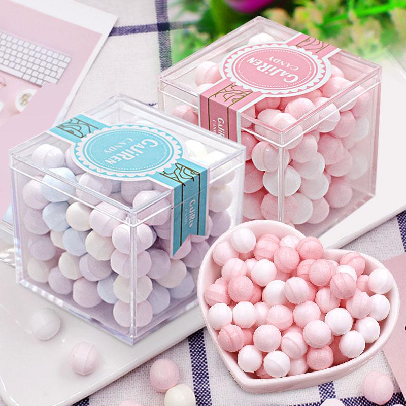 网红花香味薄荷糖接吻约会糖玫瑰花味清新持久清口糖表白糖果礼盒