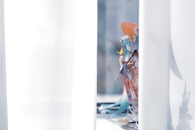 初音未來手辦miku和服雪櫻花蝴蝶公主周邊模型擺件公仔玩偶二次元*可魯可丫