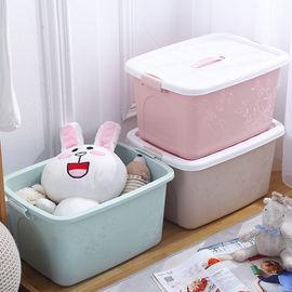 家用收纳箱衣服玩具储物盒子整理箱塑料有盖