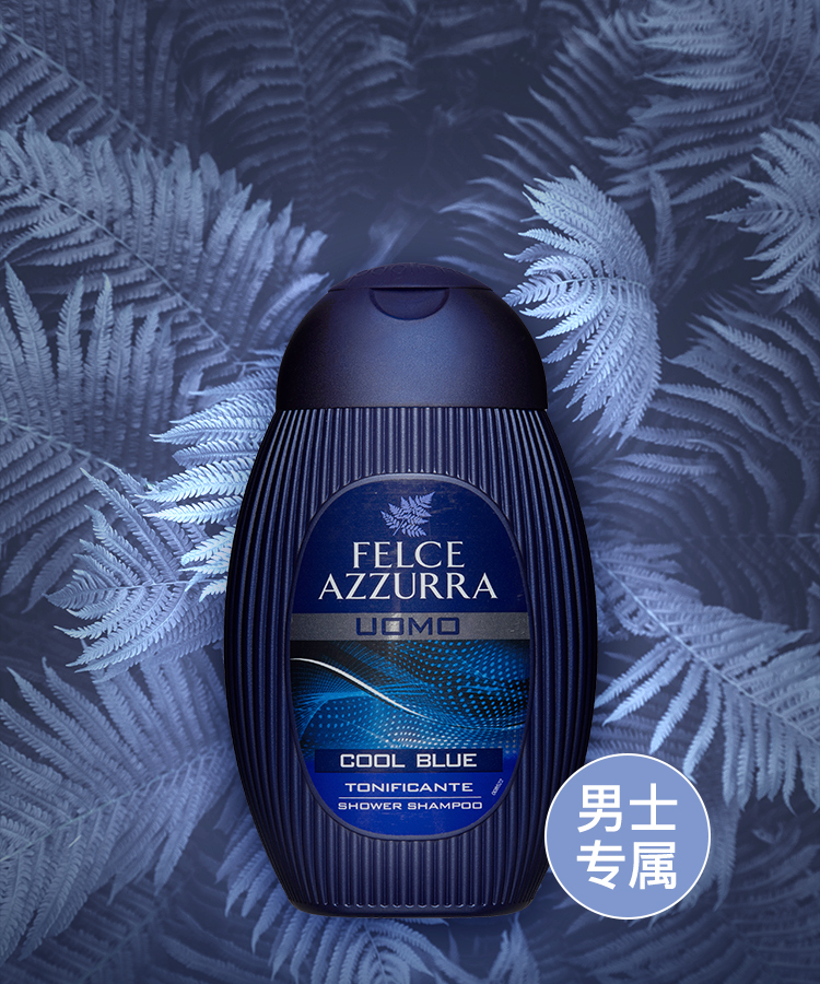 意大利老字号,250mlx2瓶 Felce Azzurra蓝蕨 男士 蓝色金典沐浴洗发二合一 券后19元起包邮 买手党-买手聚集的地方