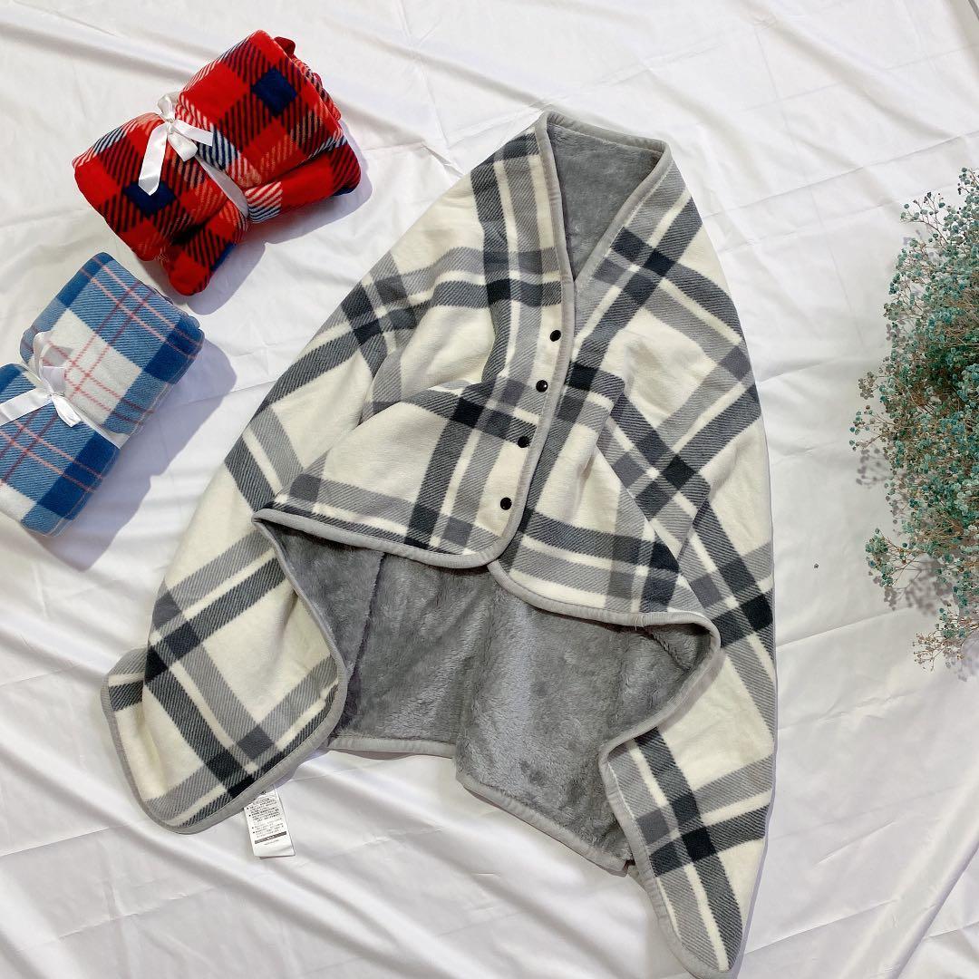 小毛毯被子加厚冬季办公室午睡空调毯披肩披风懒人盖毯珊瑚绒单人