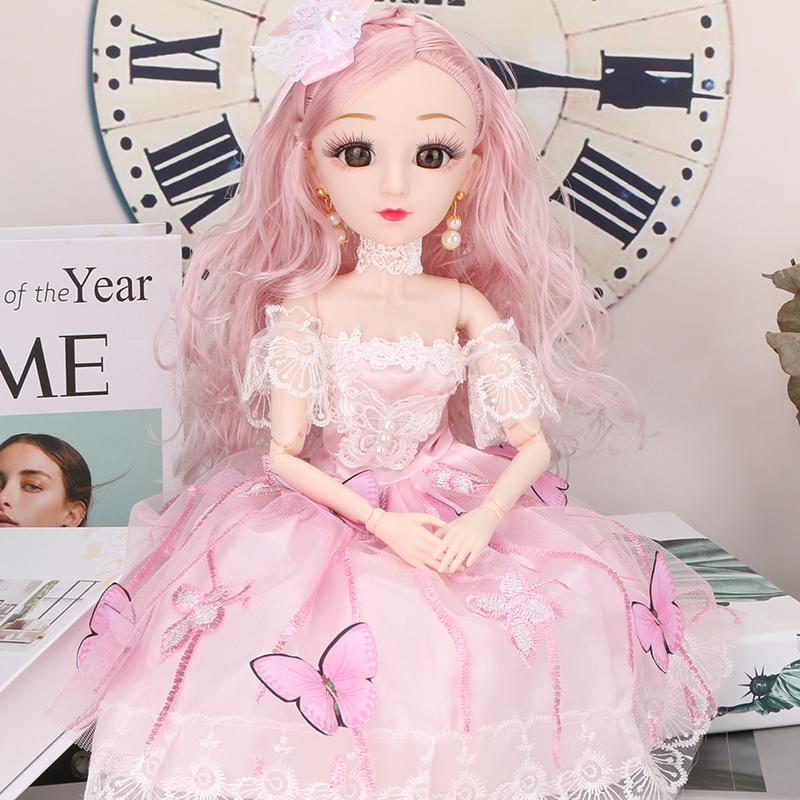 仿真换装大号布洋娃娃套装比芭玩具儿童超大礼盒女孩公主生日礼物