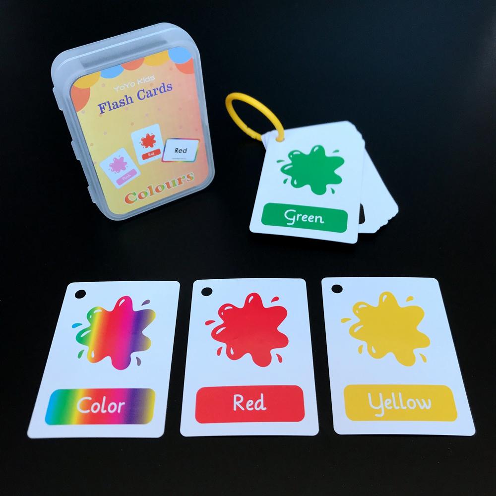 10款儿童早教学习英语闪卡flash cards形状动物颜色水果字母数字