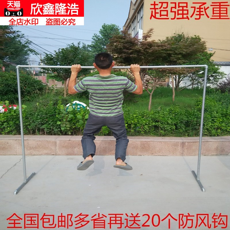 Steel pipe clothes rack floor home single single-stick single-stick bedroom clothes hanging clothes in the cold iron multi-work.