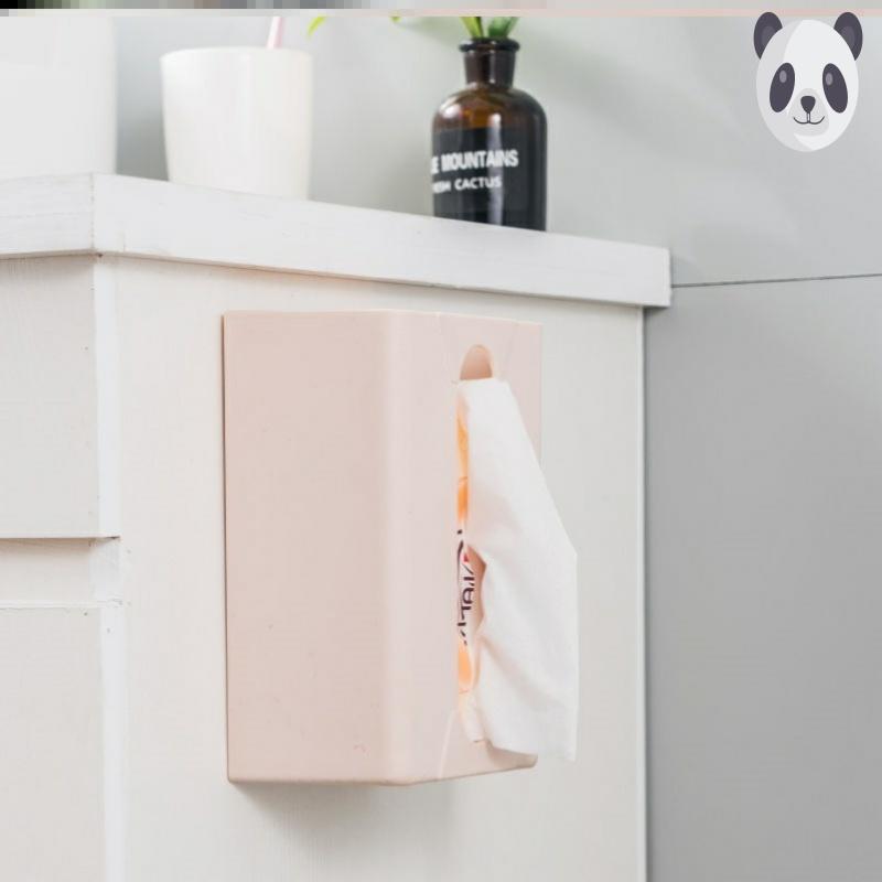 纸巾盒挂壁式小尺寸可爱橱柜门抽置物架免钉收纳北欧艺用无痕多功