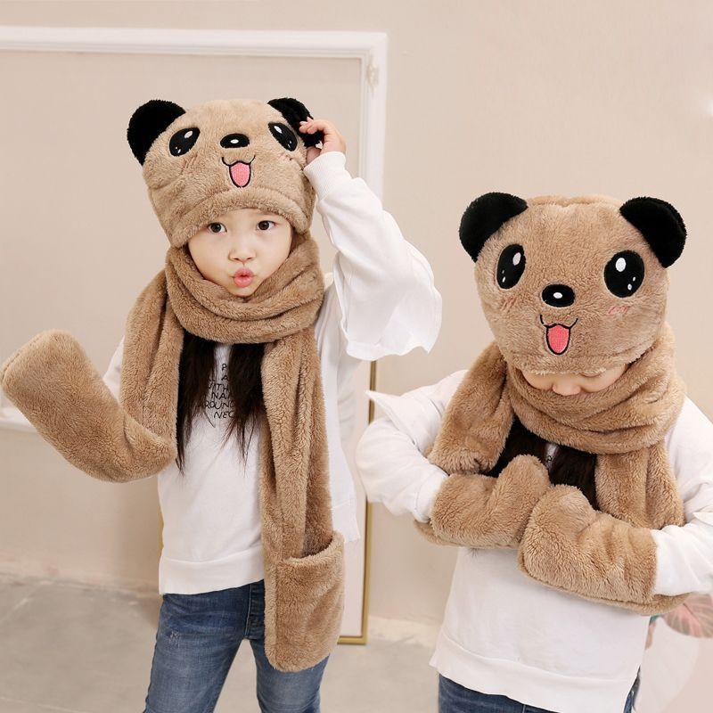 居家日用秋冬季儿童围巾帽子手套
