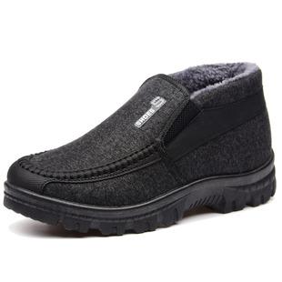 冬季新款加絨保暖老人棉鞋