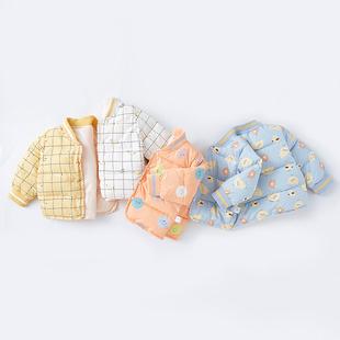 男女童寶寶棉衣外套洋氣秋冬嬰兒保暖夾棉
