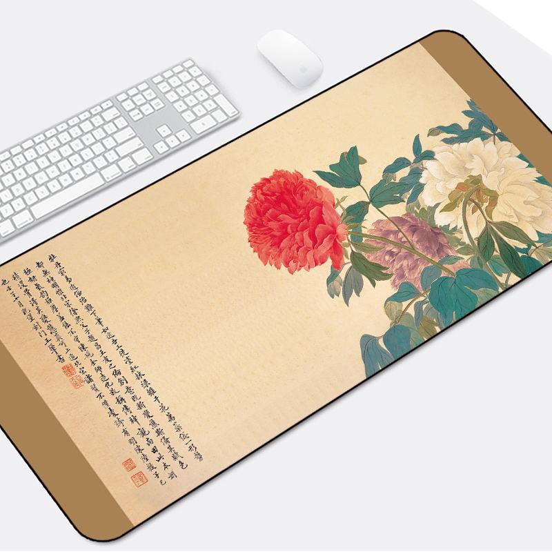 中国风鼠标垫超大加厚国潮办公男女笔记本键盘垫家用大号可爱桌垫