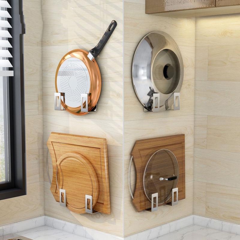锅盖架菜板砧板架免打孔不锈钢厨房置物架