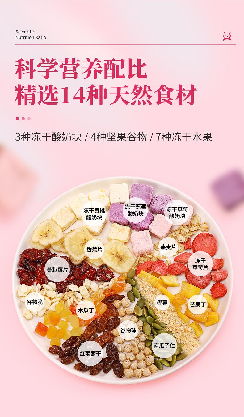 优佳 水果酸奶果粒燕麦片 400g 开袋即食代餐坚果谷物 图3
