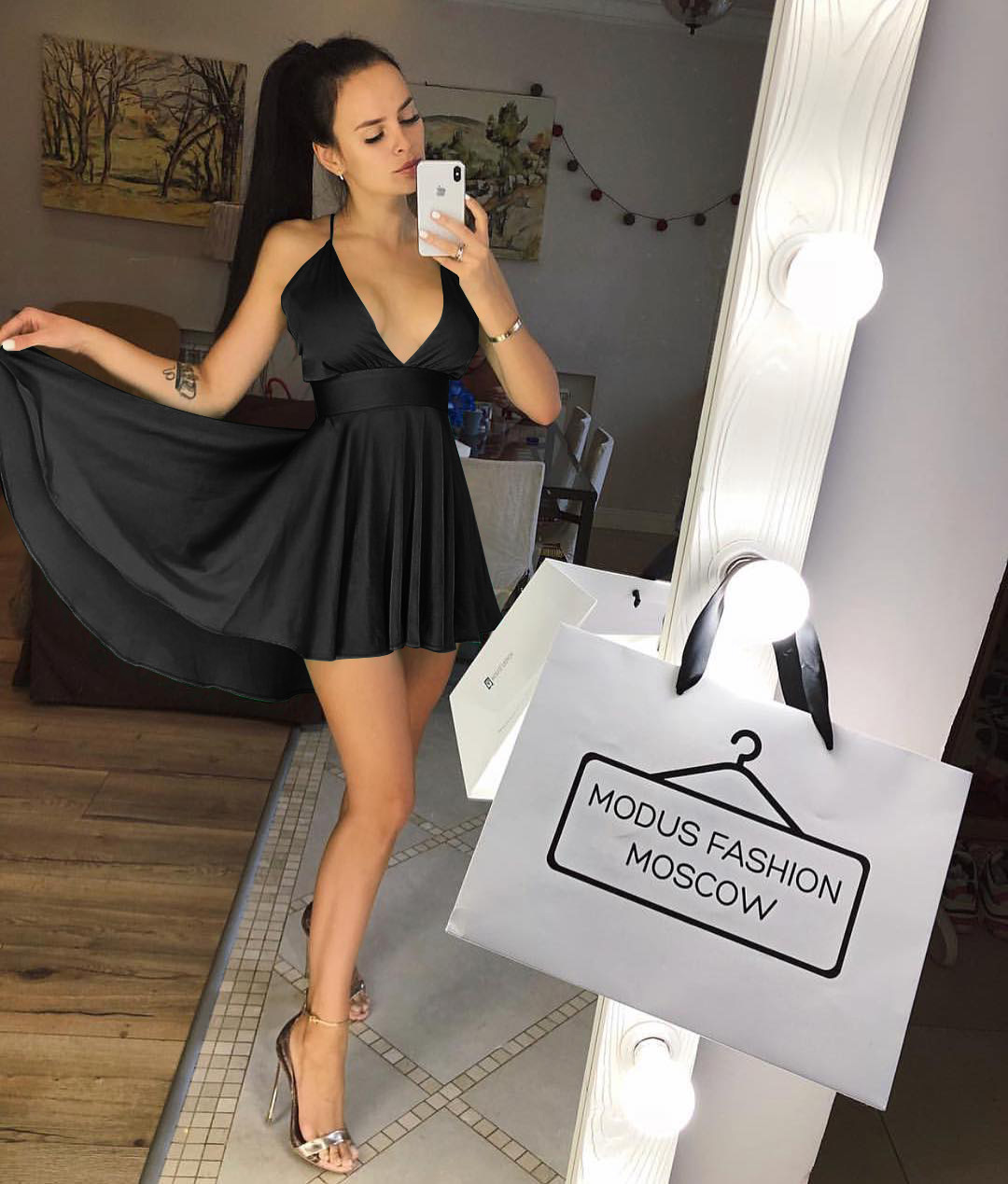 卓銳正韓男裝Summer Sexy party dress with plunging neckline性感吊帶禮服女