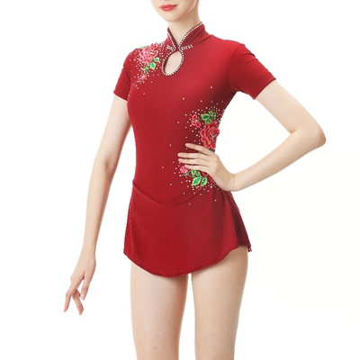 custom size figure skating dress for girls women Custom made figure skating show dress girl skating suit children adult competition Qipao dress drill