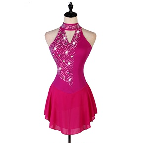 custom size figure skating dress for girls women Professional customized figure skating suit air Yoga Pole Dance Costume performance competition Girl Adult Bareback