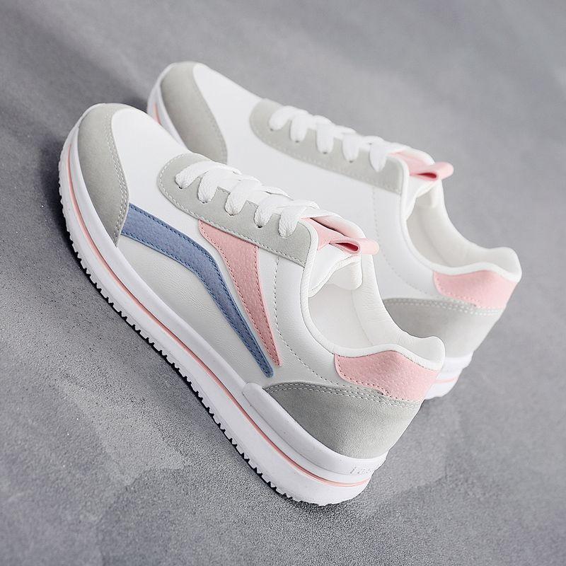 女士春秋小白鞋新款休闲老爹鞋薄款运动鞋