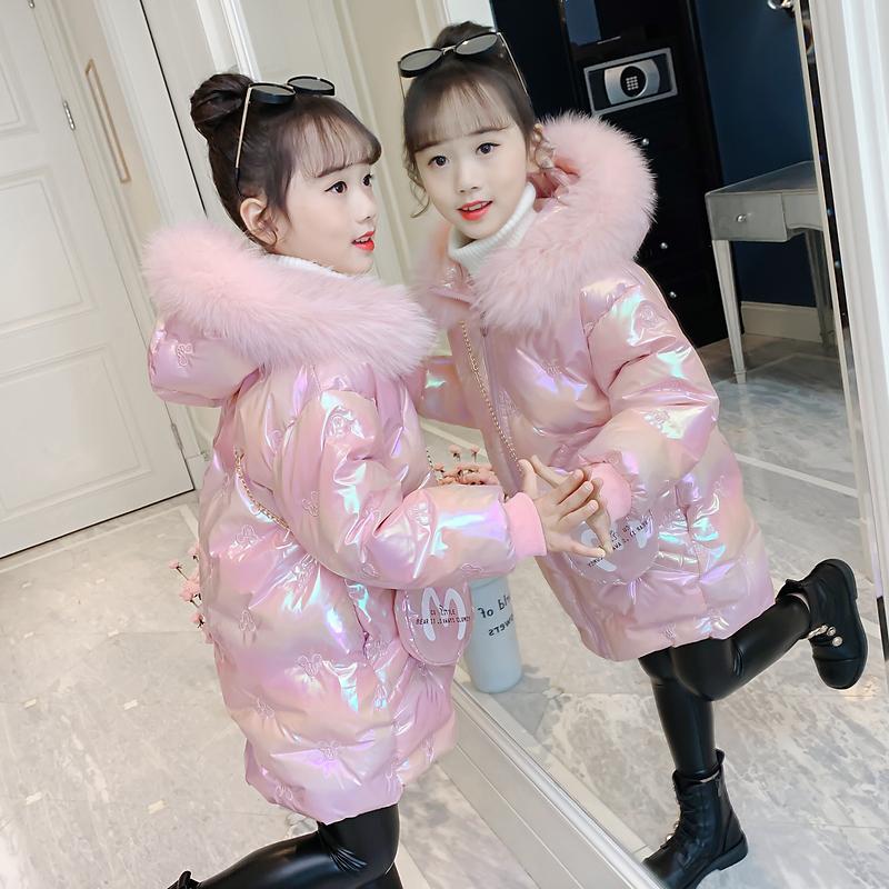 中大童棉服2021年冬季新款儿童羽绒棉衣洋气中大童加厚棉袄外套冬