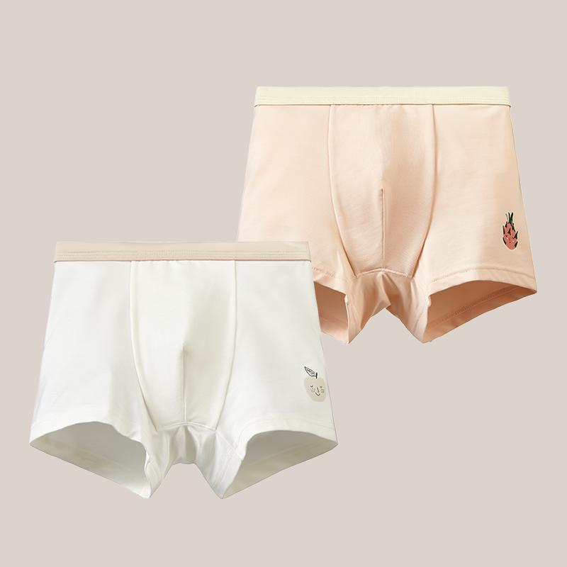 【蓝内】水果染儿童内裤莫代尔内裤2条装