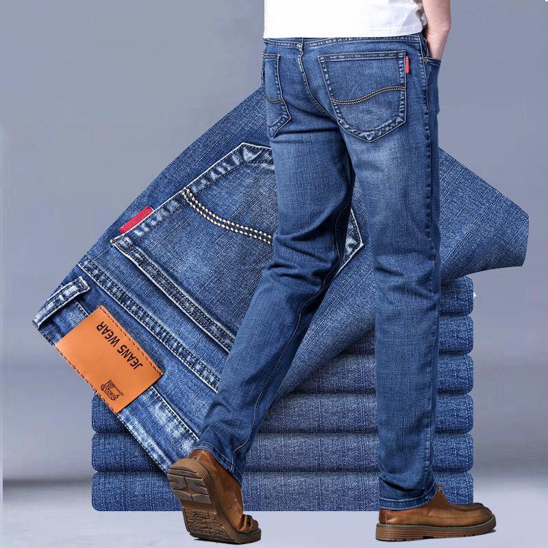 男士春夏季牛仔裤弹力直筒裤休闲裤长裤男裤