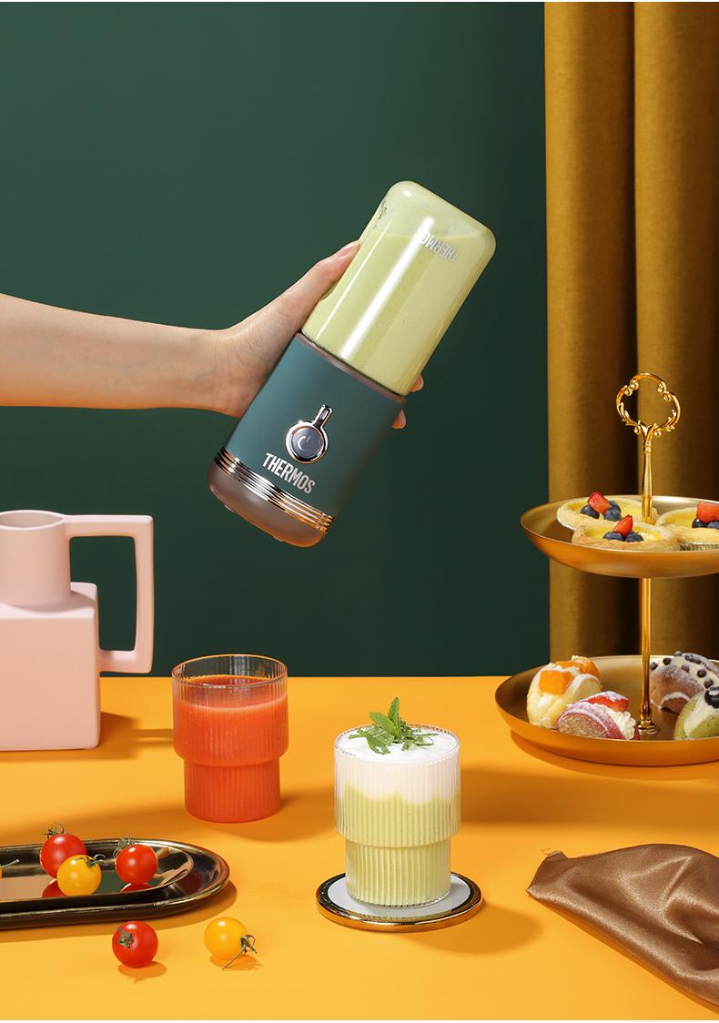 膳魔师 迷你便携无线榨汁机+Tritan便携杯 图5
