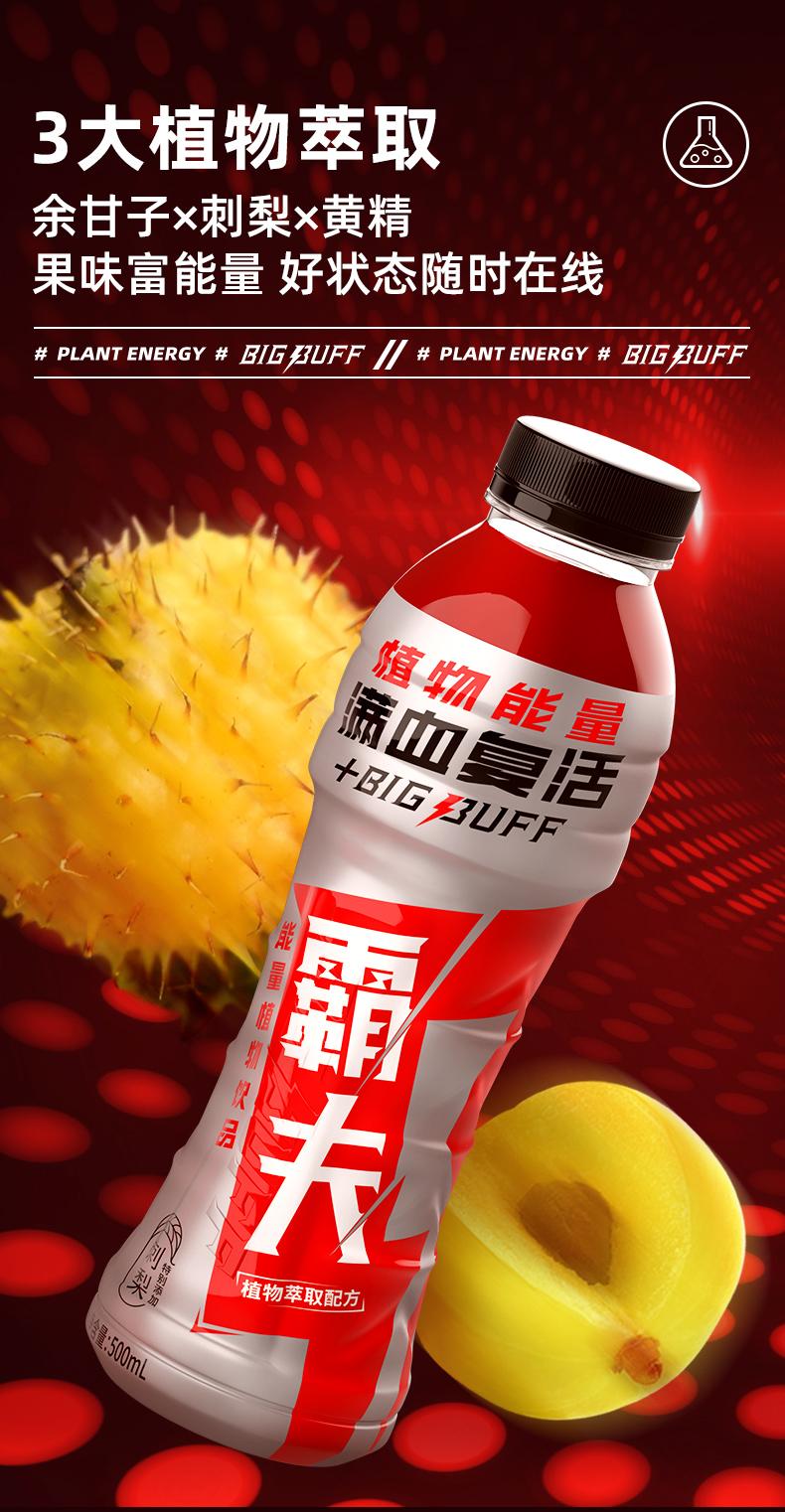 新希望 BIGBUFF 0蔗糖植物能量维生素功能饮料 4瓶 图3