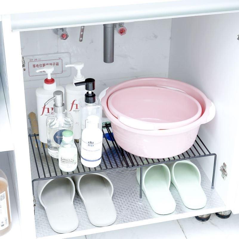 可伸缩厨房下水槽橱柜置物架隔层碗碟架沥水收纳架调味品架a132