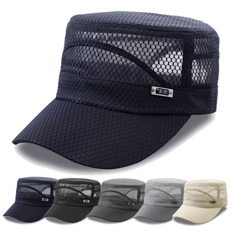 帽子男士夏季平顶帽休闲户外钓鱼帽防晒遮阳