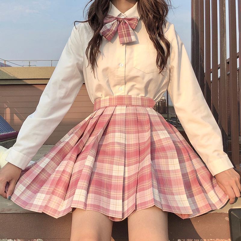 学院风jk制服春夏正版百褶裙套装