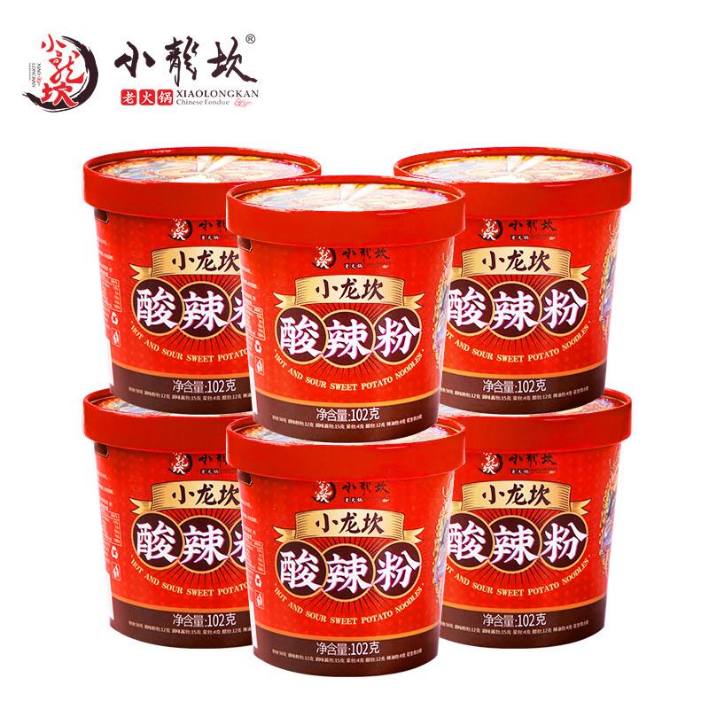 小龙坎酸⌒辣粉ξ 6桶装正宗红薯粉丝米线粉条网红夜宵方便速食