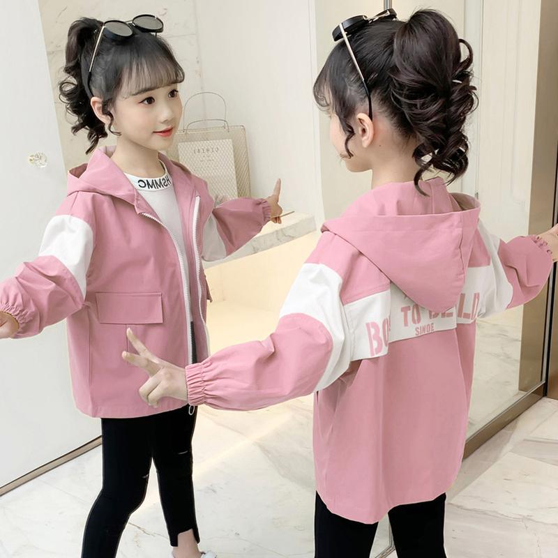 女童外套薄款秋款2020新款童装春秋时髦夹克中大童洋气休闲女外套
