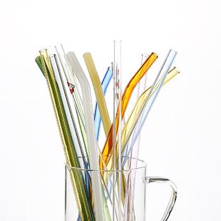玻璃吸管非一次性耐热防口红透明环保珍珠奶茶成人孕产妇弯头饮管