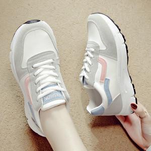 女士秋季皮面运动鞋跑步鞋休闲鞋学生小白鞋