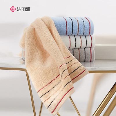 洁丽雅毛巾四条装4纯棉加厚洗脸面巾吸水全棉家庭用成人儿童男女