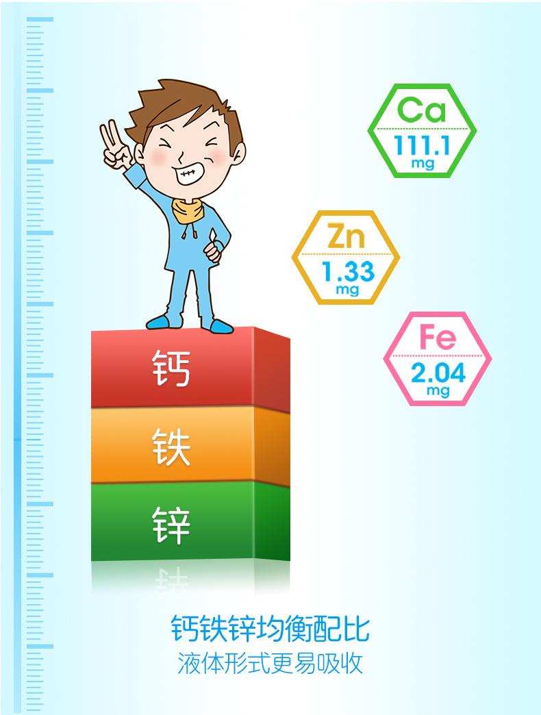 葵花药业 小葵花 儿童钙铁锌口服液 8盒96支 图3
