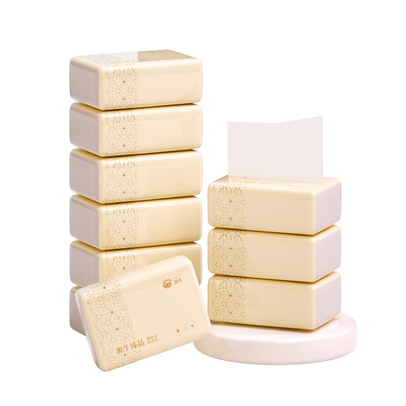 10包80抽原木纯品抽纸整箱家用纸抽纸巾实惠装大包餐巾纸卫生纸面