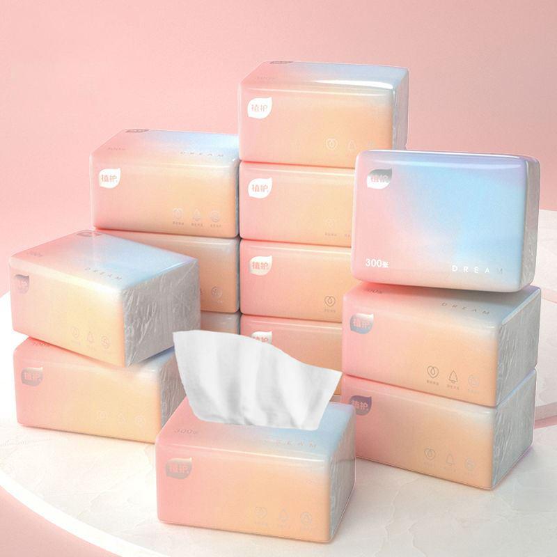 原木抽纸巾家用整箱妇婴卫生纸面巾餐巾纸